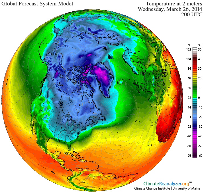Fabricated 'Polar Vortex' purposefully positioned over North America.